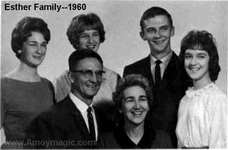 Joe and Marion Esther and family in 1960