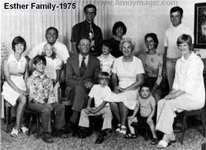 Joe and Marion Esther and family in 1975