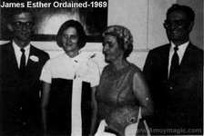 J\ames Esther ordained in 1969 Pastor Second Reformed Church New Brunswick New Jersey