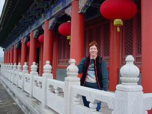 Trish Boman at Film City, Tong An  Amoy Magic--Guide to Xiamen and Fujian, China  http://www.Amoymagic.com Xiamen and Fujian tourism, travel, business, investment, trade, cuisine, history, culture, Chinese humor and jokes, language study, Xiamen University, MBA, expatriate, research, deng deng!
