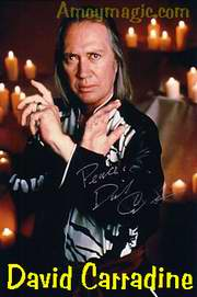 David Carradine, star of the popular TV series Kung Fu.  I was surprised when I found out he wasn't Chinese but white like me.