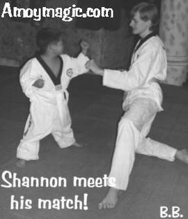 Shannon William Brown in a karate match with pint-sized Korean opponent!
