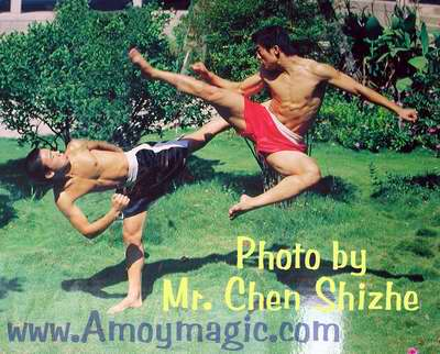 Southern Shaolin Kung fu match; photo by master photographer Chen Shizhe, of Quanzhou