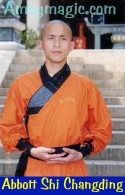 Abbott Shi Changding--only 30 years old!  Southern Shaolin Temple, Quanzhou, Fujian Province, China