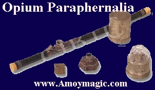 opium paraphernalia pipes etc