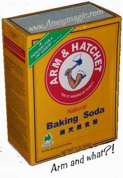Arm and hammer baking soda or arm and hatchett?