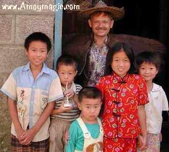 Dr. Bill Brown and little Fujian friends