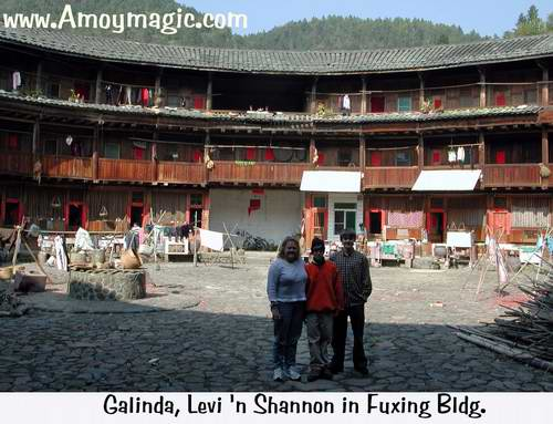 My sister Galinda and nephew Levi in Fuxing  Earthen  roundhouse