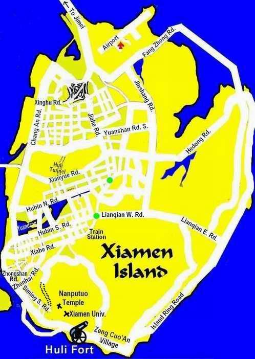 Map Xiamen.Xiamen And Fujian Maps